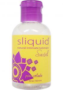 Sliquid Swirl Flavored Water Based Lubricant Pina Colada 4 Ounce