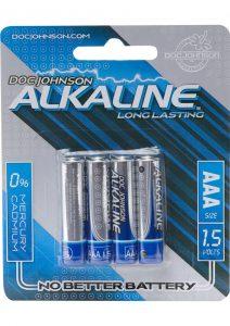 Doc Johnson Alkaline Batteries AAA 4 Pack