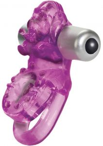 Lovers Delight Ele Double Support Enhancer Ring With Removable 3 Speed Stimulator Purple
