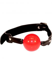 Sex And Mischief Solid Red Ball Gag 2 Inch