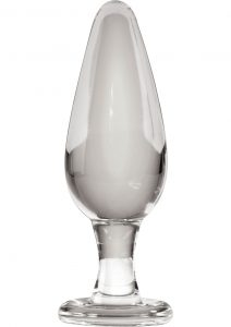 Icicles No 26 Glass Anal Plug Clear 4.63 Inch
