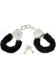 Sex And Mischief Furry Handcuffs Black