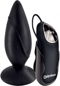 Anal Fantasy Collection Elite Vibrating Silicone Plug Black 3.5 Inch