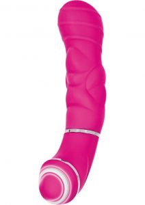 Up Give It Up 10 Function Silicone Massager Vibe Waterproof Pink 4.5 Inch