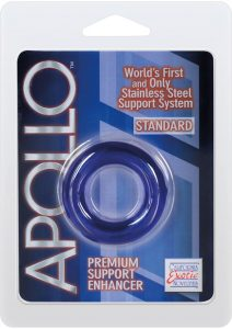 Apollo Premium Support Enhancer Cockring Standard Blue 1.75 Inch Diameter