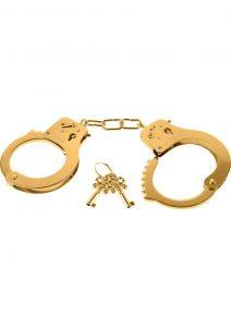 Fetish Fantasy Gold Metal Cuffs Gold