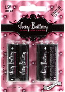 Sexy Battery Xtra Endurance Alkaline LR6 AA/ 1.5V 4 Each Per Pack