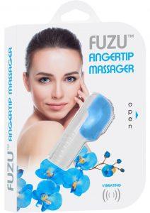 Fuzu Fingertip Massager Silicone Waterproof Neon Blue