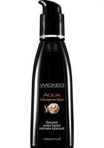 Wicked Aqua Water Based Flavored Lubricant Cinnamon Bun 4 Ounce