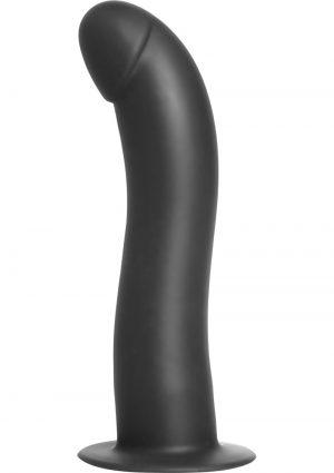 Strap U Onyx Silicone Gspot Dildo Black 7.5 Inch