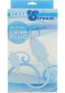 Clean Stream Inflatable Enema Silicone Plug Black