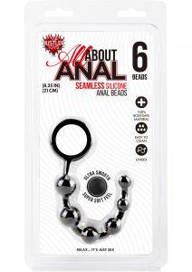 Hustler Silicone Anal Beads 6 Balls Black 8.25 Inch