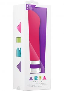 Aria Hue G Silicone Vibe Waterproof Cerise 6.5 Inch