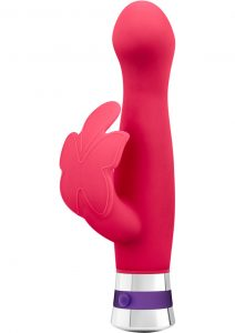 Aria Lotus Flutter Silicone Dual Vibe Waterproof Cerise 7.25 Inch
