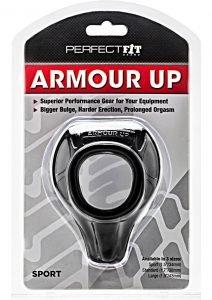 Perfect Fit Armour Up Sport Cock Ring - Black