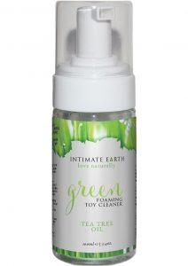 Intimate Earth Green Foaming Toy Cleaner Tea Tree Oil 3.4 Ounces