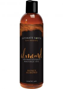 Intimate Earth Almond Aromatherapy Massage Oil Honey Almond 4 Ounce