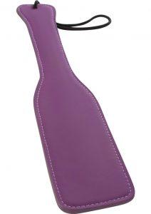 Lust Bondage Leather Paddle Purple