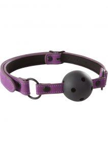 Lust Bondage Ball Gag - Purple/Black