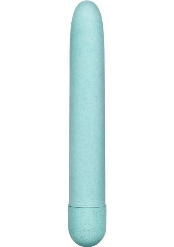 Gaia Eco Biodegradable Vibrator Waterproof Aqua 7 Inch