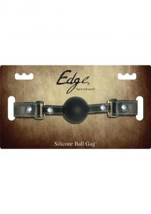 Edge Silicone Ball Gag With Adjustable Leather Strap