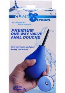 Clean Stream Premium One Way Valve Anal Douche Blue 225 Millilliter