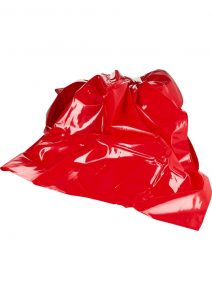 Scandal Be Naughty Vinyl Super Sheet Red King Size