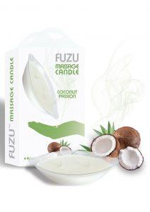 Fuzu Massage Candle Coconut Passion  Vegan Friendly 4 Ounce