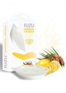 Fuzu Massage Candle Fiji Dates and Lemon Peels Vegan Friendly 4 Ounce