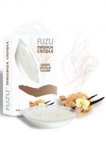 Fuzu Massage Candle Warm Vanilla Vegan Friendly 4 Ounce