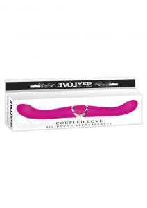 Evolved Coupled Love Silicone Rechargeable Massager Pink