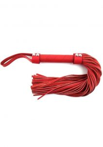 Rouge H Style Handle Leather Flogger Red 21.25 Inches