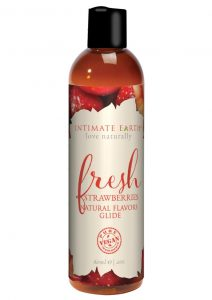 Intimate Earth Natural Flavors Glide Fresh Strawberries 2oz