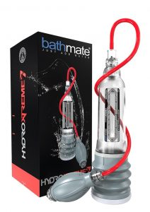Bathmate Hydroxtreme7 Penis Pump Waterproof Clear