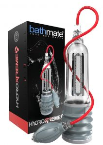 Bathmate Hydroxtreme9 Penis Pump Waterproof Clear