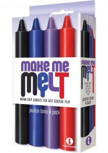 Make Me Melt Warm Drip Candles Passion Tones 4 Pack
