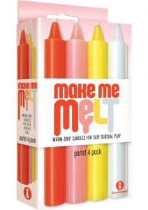 The 9`s Make Me Melt Warm Drip Candles Assorted Pastel Colors 4 Each Per Pack