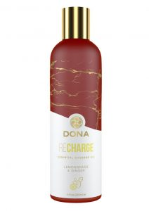 Dona Essential Massage Oil Recharge Lemongrass and Ginger