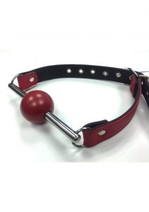 Rouge Ball Gag With Removable Ball And Stainless Steel Rod Adjustable Strap Red