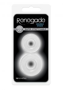 Renegade Double Stack Clear Cock Ring Set Non-Vibrating