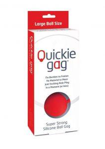 Quickie Gag Silicone Ball Gag Bondage Red
