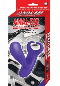 Anal Ese Collection Heat P-spot Testicle Stimulator USB Rechargeable Remote Control Waterproof  Purple
