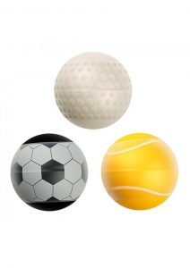 Linx Score Stroker Ball Masturbator 3-Pack Nubby and Ribbed Texture Waterproof