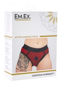EM. EX. Active Harness Wear Contour Harness Briefs Red Small -23-25