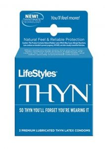 Lifestyles Ultra Thin Lubricated Latex Condoms 3-Pack