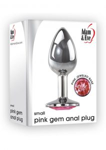 Adam and Eve Pink Gem Anal Plug Aluminum Non-Vibrating Small 2.81 Inches