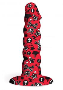 Collage Goth Girl Twisted Silicone Dildo