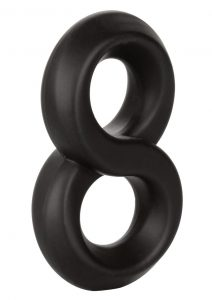 Ultra Soft Crazy 8 Silicone Cockring Black