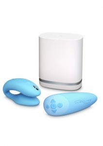 We-Vibe Chorus Couples Vibrator With Squeeze Control Waterproof Rechargeable Blue