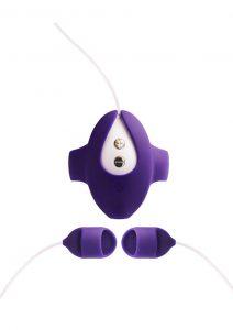 VeDO Kimi Rechargeable Silicone Dual Finger Vibrator - Deep Purple